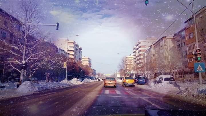 ninsoare in Alexandria