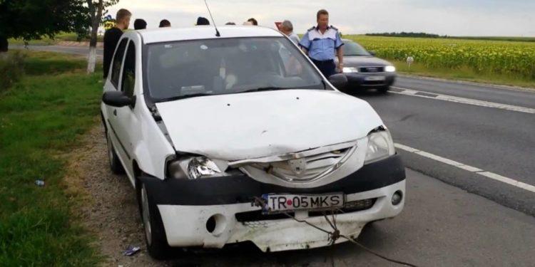 Accident cu masina politiei