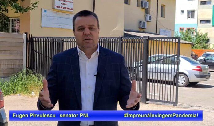 Senatorul PNL Eugen Pîrvulescu anunță un maraton al vaccinării la Sala Polivalentă din Alexandria